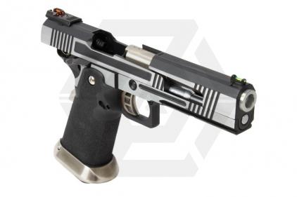 Armorer Works GBB GAS/CO2 DualFuel Hi-Capa HX10 with Split Slide (Silver/Black)