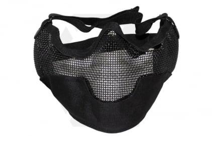 MFH Large Half Face Mesh Mask (Black)