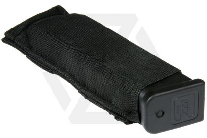 101 Inc MOLLE Elastic Pistol Mag Pouch (Black)