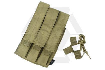 TMC MOLLE Triple Mag Pouch for SMG (Khaki) © Copyright Zero One Airsoft