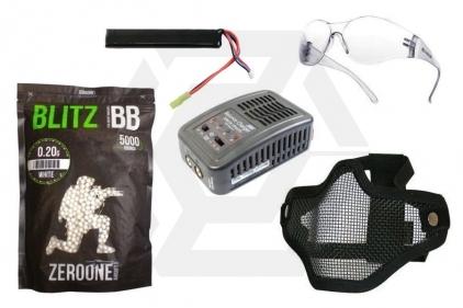 Zero One 7.4v 1100mAh LiPo 15C Battery Starter Pack Tier 1 (Bundle) © Copyright Zero One Airsoft