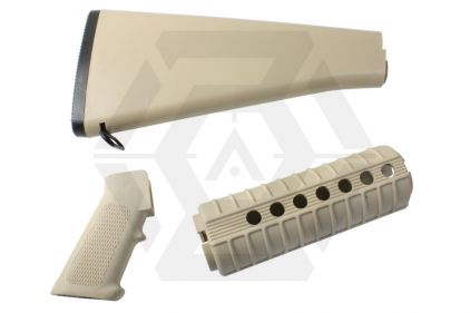 G&G Handguard and Stock Set for GR16 Series (Tan)