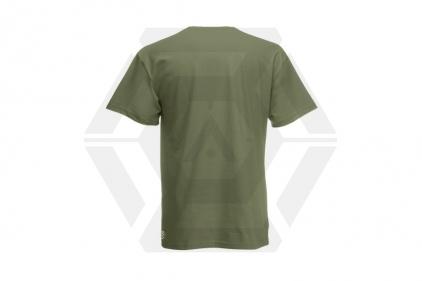 Daft Donkey Christmas T-Shirt 'Santa I NEED It Pistol' (Olive) - Size Extra Large