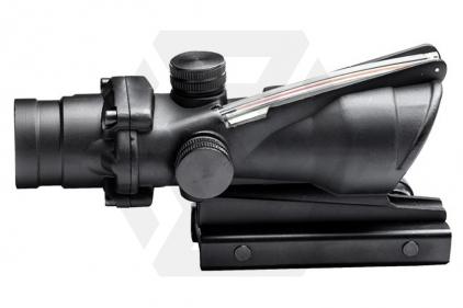 G&G TA31 Scope 4x ACOG Style with Red Fibre Optic Illuminated Reticule (Black)