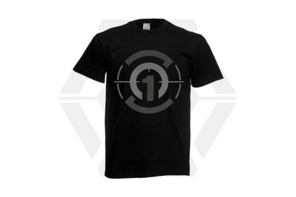 Daft Donkey T-Shirt 'Subdued Zero One Logo' (Black) - Size Large © Copyright Zero One Airsoft