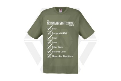 Daft Donkey Special Edition NAF 2018 'Checklist' T-Shirt (Olive) © Copyright Zero One Airsoft