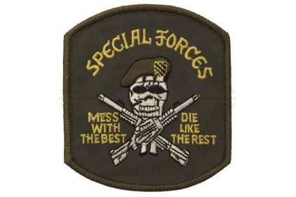 "101 Inc Fabric Patch ""Special Forces Skull"" © Copyright Zero One Airsoft"