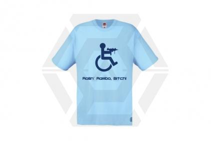 Daft Donkey T-Shirt 'Rollin' Rambo' (Blue) - Size Large