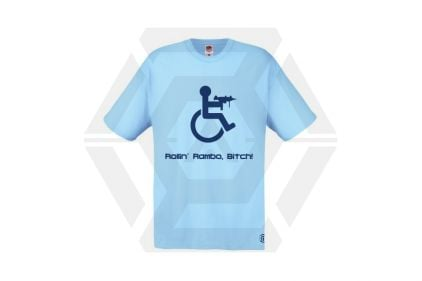 Daft Donkey T-Shirt 'Rollin' Rambo' (Blue) - Size Medium © Copyright Zero One Airsoft