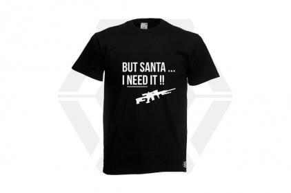 Daft Donkey Christmas T-Shirt 'Santa I NEED It Sniper' (Black) - Size Medium - £9.95
