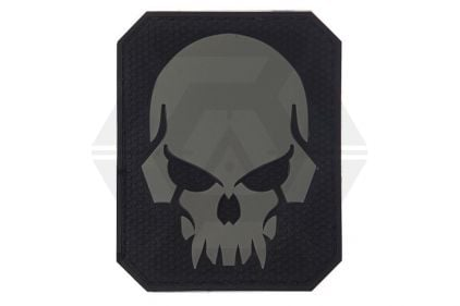 "VOS PVC Velcro Patch ""Pirate Skull"" (Grey)"