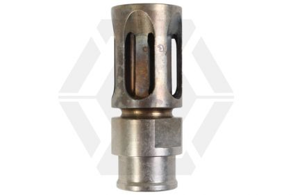 G&P Type II Steel Flash Hider with Burnt Blue Finish 14mm CCW © Copyright Zero One Airsoft