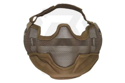 MFH Large Half Face Mesh Mask (Coyote Tan) © Copyright Zero One Airsoft