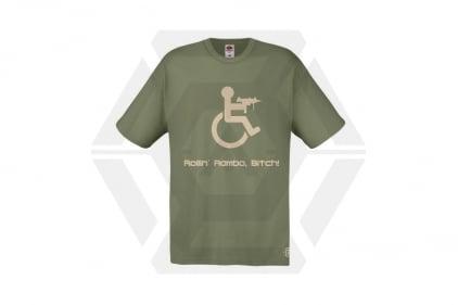Daft Donkey T-Shirt 'Rollin' Rambo' (Olive) - Size Extra Extra Large © Copyright Zero One Airsoft