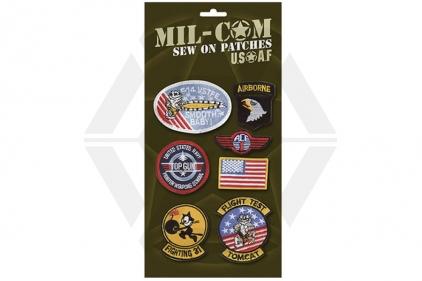 Mil-Com USAF Sew On Patch Set © Copyright Zero One Airsoft