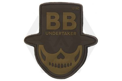 "101 Inc PVC Velcro Patch ""BB Undertaker"" (Brown)"