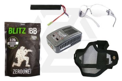 Zero One 7.4v 1200mAh LiPo 20C Battery Starter Pack Tier 1 (Bundle) © Copyright Zero One Airsoft