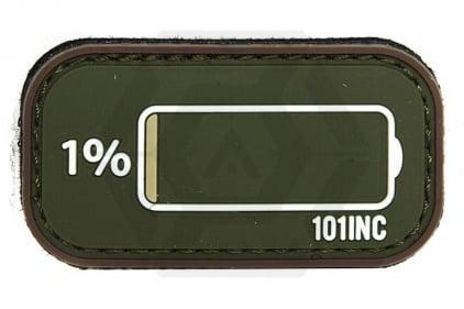 "101 Inc PVC Velcro Patch ""Low Power"" (Olive)"
