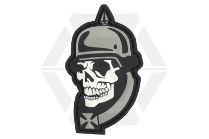 "101 Inc PVC Velcro Patch ""WWI Skull"" © Copyright Zero One Airsoft"