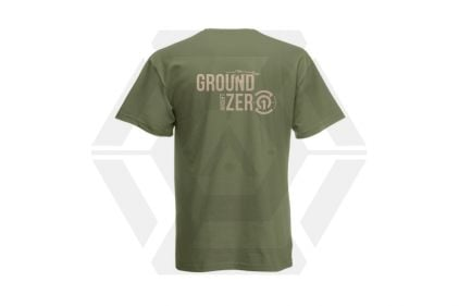 Daft Donkey T-Shirt 'Ground Zero Logo' (Olive) - Size Large - £8.95