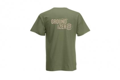 Daft Donkey T-Shirt 'Ground Zero Logo' (Olive) - Size Medium - £8.95