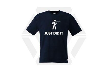 Daft Donkey T-Shirt 'Just Did It' (Dark Navy) - Size Extra Extra Large