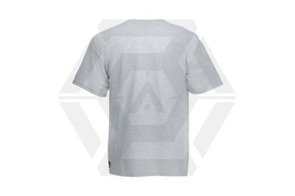Daft Donkey Christmas T-Shirt 'Santa I NEED It Pistol' (Light Grey) - Size Small