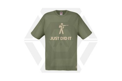 Daft Donkey T-Shirt 'Just Did It' (Olive) - Size Extra Large