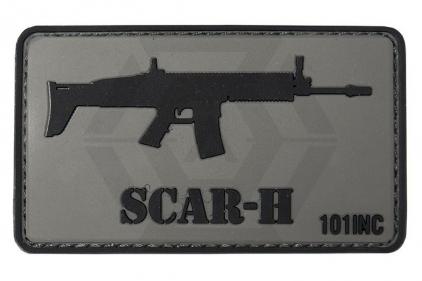 "101 Inc PVC Velcro Patch ""SCAR-H"""