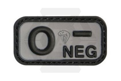 Viper Velcro PVC Blood Group Patch O- (Black) © Copyright Zero One Airsoft