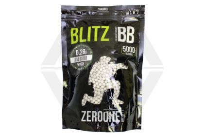 Zero One Blitz BB 0.28g 5000rds (White) Box of 10 (Bundle)