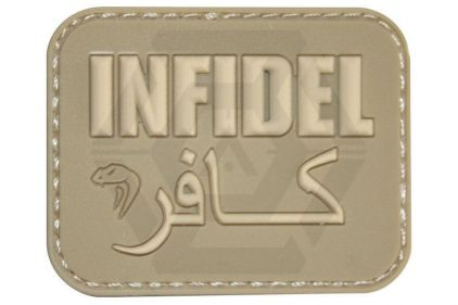 "Viper Velcro PVC Morale Patch ""Infidel"" (Coyote Tan) © Copyright Zero One Airsoft"