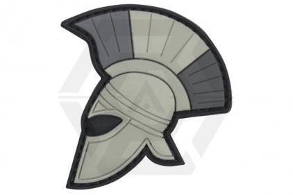 "101 Inc PVC Velcro Patch ""Spartan Helmet"" (Grey)"