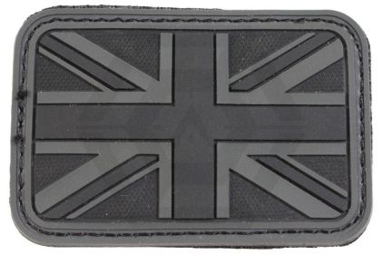 EB Velcro PVC Union Flag Patch (Black)