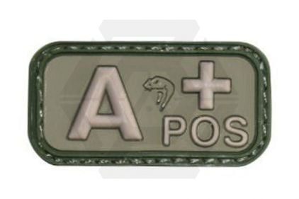Viper Velcro PVC Blood Group Patch A+ (Olive)