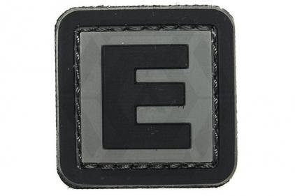 """VOS PVC Velcro Patch """"E"""""""
