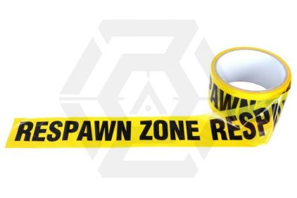 "101 Inc Barrier Tape 48mm x 30m ""Respawn Zone"" © Copyright Zero One Airsoft"