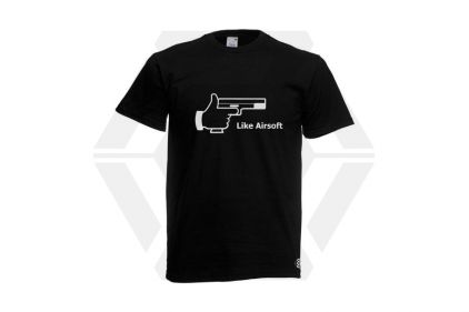 Daft Donkey T-Shirt 'Like Airsoft' (Black) - Size Extra Large © Copyright Zero One Airsoft
