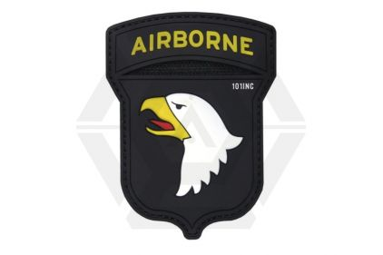 "101 Inc PVC Velcro Patch ""101st Airborne"" (Black)"