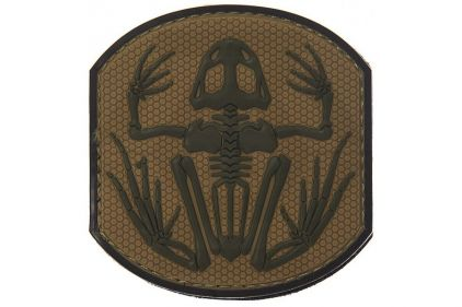 "101 Inc PVC Velcro Patch ""Frog Skeleton"" (Brown)"