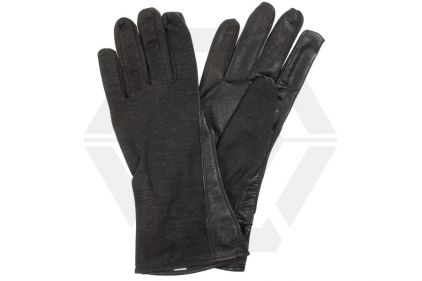 Mil-Force Nomex Fire Resistant Operator Gloves (Black) - Size Large © Copyright Zero One Airsoft
