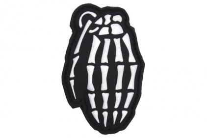 """101 Inc PVC Velcro Patch """"Skeleton Grenade"""" (Black)"""