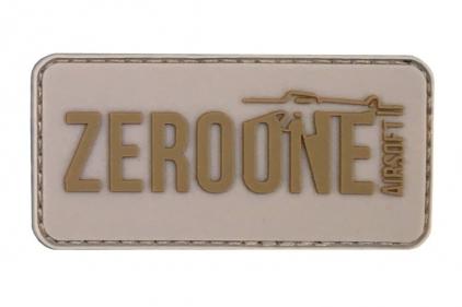 Zero One PVC Velcro Patch 'Zero One Logo' (Tan) © Copyright Zero One Airsoft