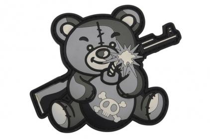 "101 Inc PVC Velcro Patch ""Terror Teddy"" (Grey)"