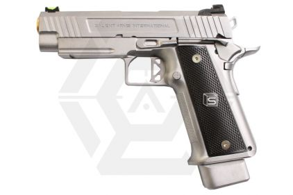 "EMG GBB GAS/CO2 DualFuel Salient Arms International Licensed 4.3"" 2011 DS Training Weapon (Silver) © Copyright Zero One Airsoft"