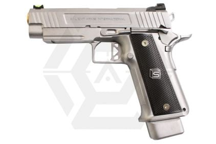 "EMG GBB GAS/CO2 DualFuel Salient Arms International Licensed 4.3"" 2011 DS Training Weapon (Silver)"