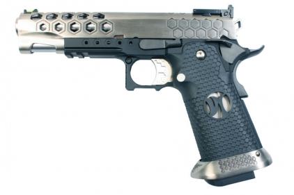 Armorer Works GBB GAS/CO2 DualFuel Hi-Capa HX25 (Silver/Black)