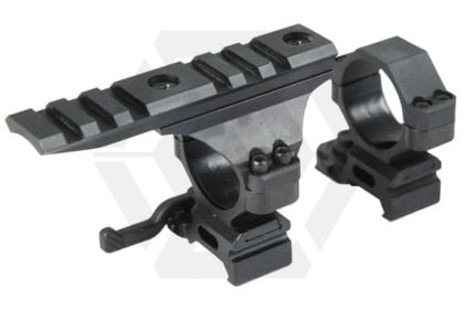 BRAVO QD Scope Ring Set with 20mm RIS Rail Ring Topper