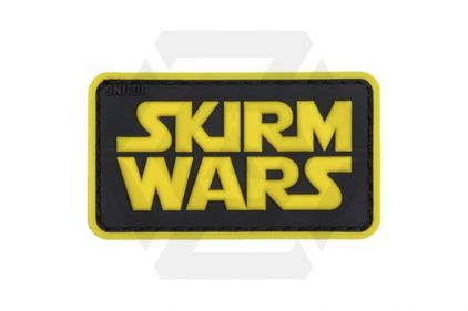"101 Inc PVC Velcro Patch ""Skirm Wars"" (Yellow)"