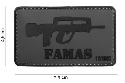 "101 Inc PVC Velcro Patch ""FA-MAS"""